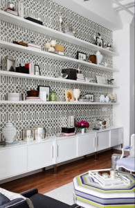 Patterned but simple, this wallpaper amplifies your existing decor.