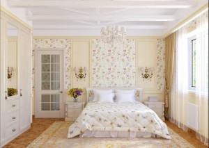 Use wallpaper as panels and opt in to matching another section of your decor to match!